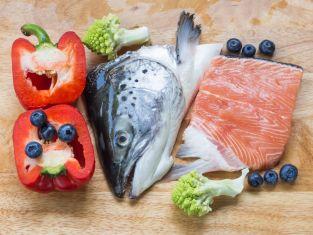 ryba, warzywa, owoce