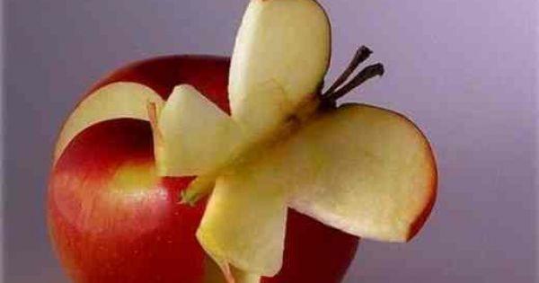 motyl z jabłka