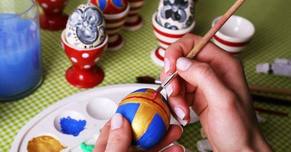 Pisanki - Malowanie farbami
