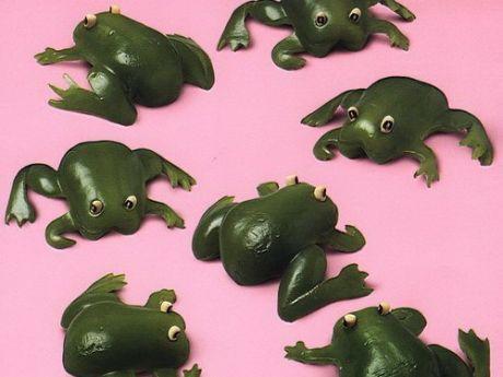 awokado, żabki