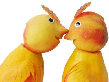brzoskwiniowe ptaszki