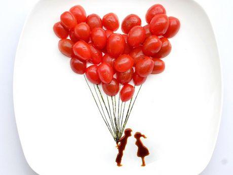 balony, pomidor