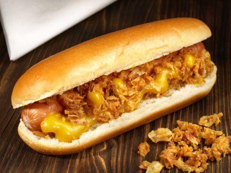 hot-dog z cebulką
