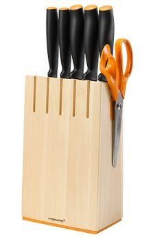 Zestaw 5 noży w drewnianym bloku