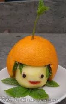 figurka z owoców