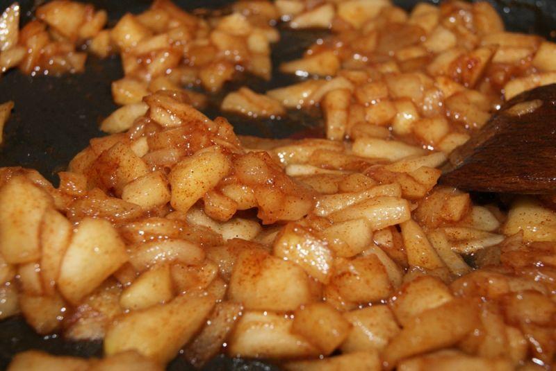 karmelizowane jabłka