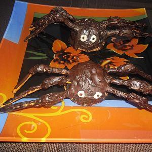 pająki w czekoladzie