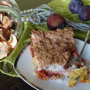 ciasto śliwkowo-jabłkowe