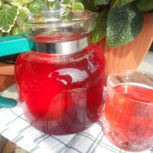 Kompot winogronowy z czereśniami