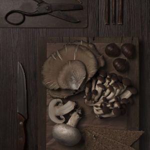 nożyce, grzyby, nóż