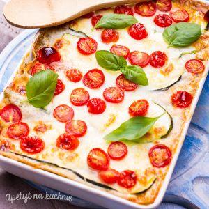 Lasagne z cukinią i pomidorami suszonymi