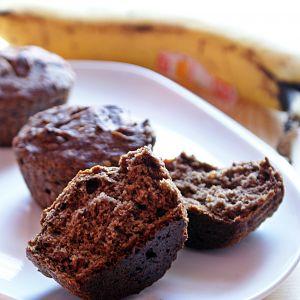 Bezglutenowe muffinki z bananem i karobem