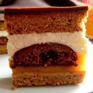 Ciasto miodowe z masą pomarańczową