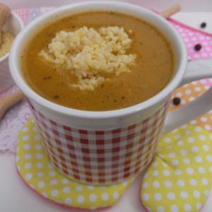 Warzywna zupa krem z kaszą jaglaną
