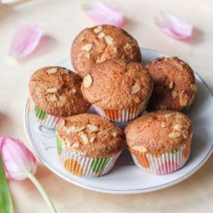brzoskwiniowo-migdałowe muffinki