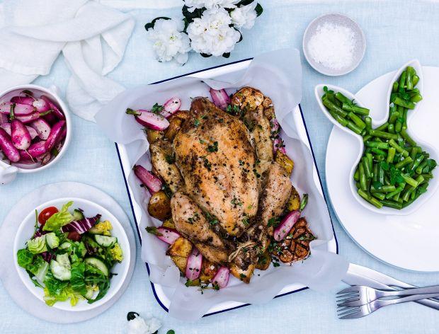Kurczak Zagrodowy pieczony z warzywami