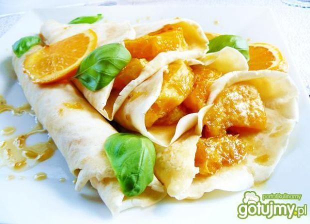 Naleśniki z karmelizowanymi pomarańczami