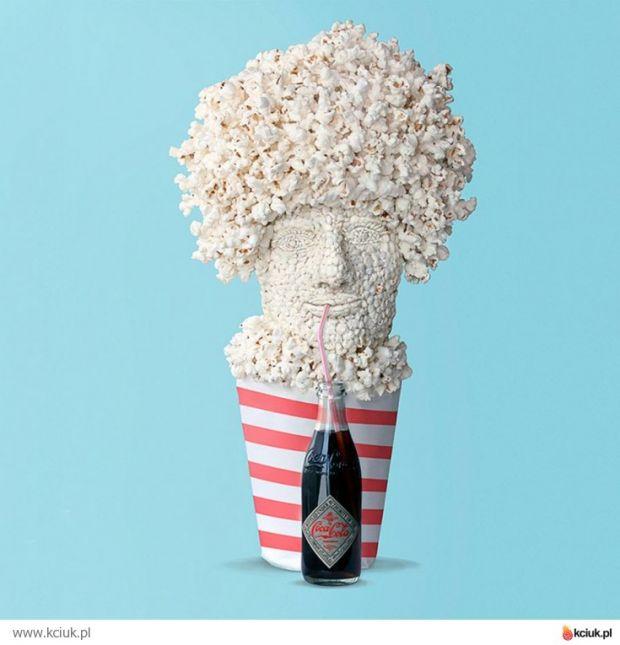 twarz z popcornu