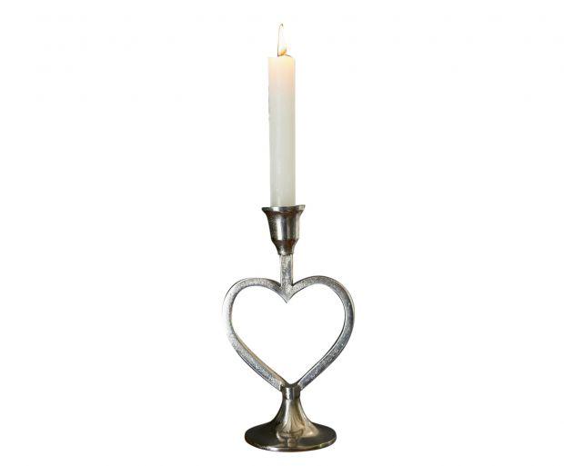 """Komplet 2 świeczników """"Heart"""""""