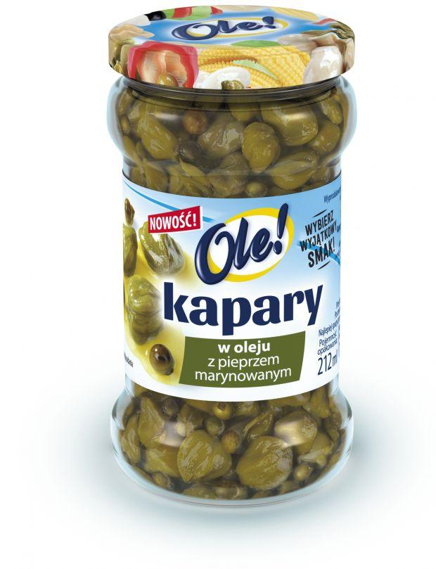 Kapary w oleju z pieprzem marynowanym OLE!