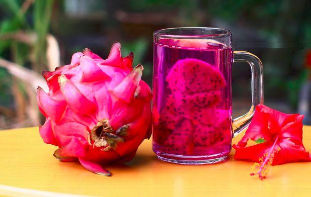 Woda smakowa z dragon fruit